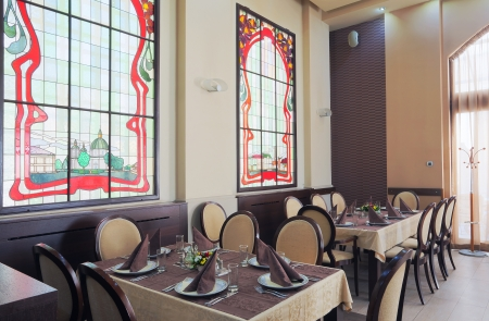 Interior of a hotel restaurant during day. Stock Photo - 14248253