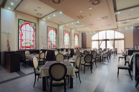 Inter of a hotel restaurant during day. Stock Photo - 14248251