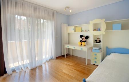 室內一個孩子的臥室,簡約,現代,新的。