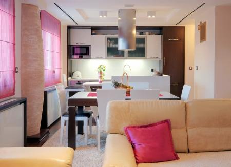 Interior of a modern home with furniture.  Standard-Bild