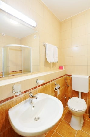 Interior of a small toilet, modern and simple.  photo