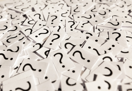 Just a lot of question marks on white papers