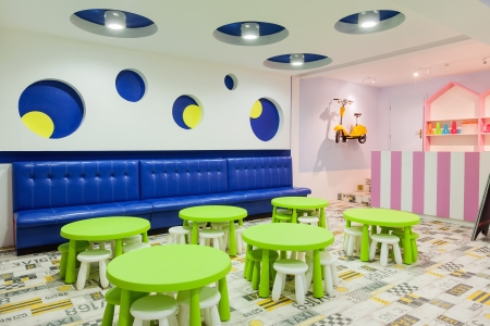 Interior of a modern kindergarten.  免版税图像