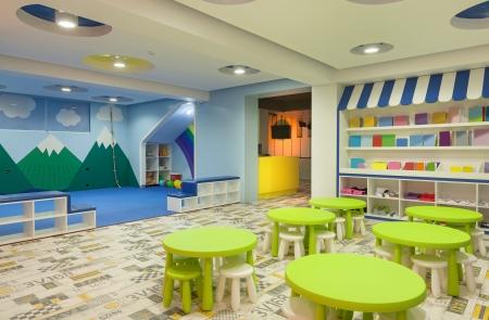 Interior of a modern kindergarten.  Stockfoto