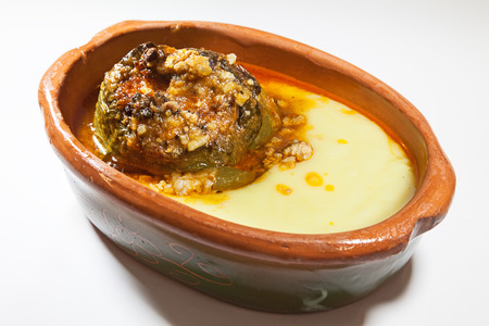 serbian: Dish of stuffed peppers, traditional Serbian food.