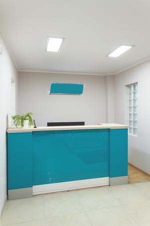 passages: Interior of a modern corporate halls simple minimalistic design. Stock Photo