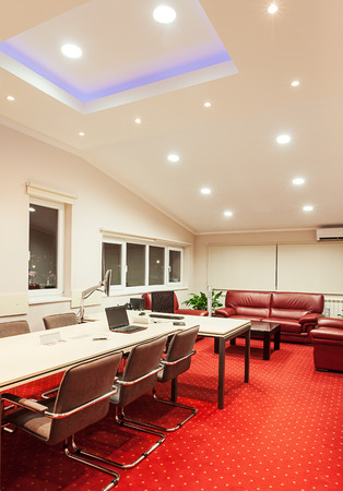manager office: Interior of a manager office modern design with luxury furniture. Stock Photo