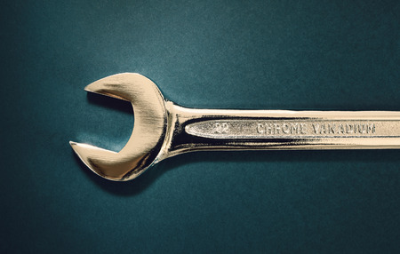 chrome vanadium: Just one wrench of steel, looks like it is of gold.