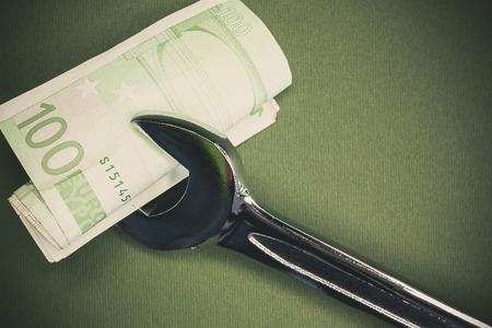 devaluation: Conceptual composition about devaluation of European money.