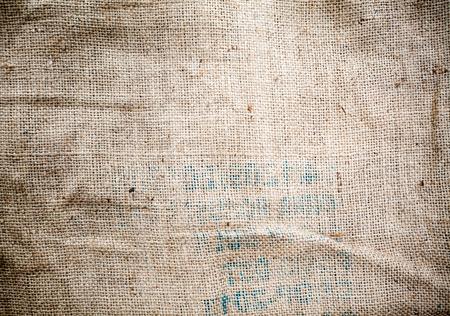 hard stuff: One part of an old sack, burlap texture closeup.