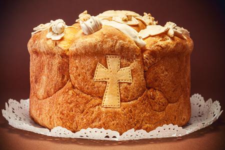 축하 장식 빵 정통 신앙의 성자. 세르비아어 전통과 문화 유산.