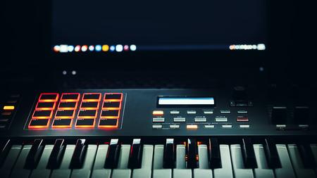 conexiones: Los detalles de un controlador midi teclado moderno.
