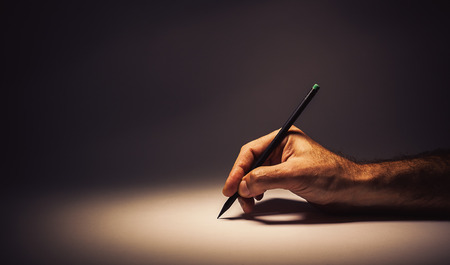 Conceptual composition about writing or drawing. Stock Photo