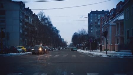 street life: Details of everyday life on street, winter season.