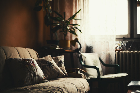 ambience: Calm ambience of an old room, lifestyle details.