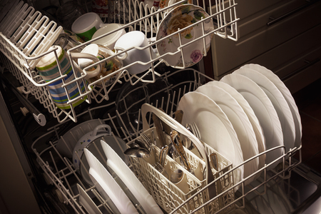 Clean dishes and accessories in dishwasher after washing.