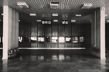 Large town building interior, in black and white. Reklamní fotografie