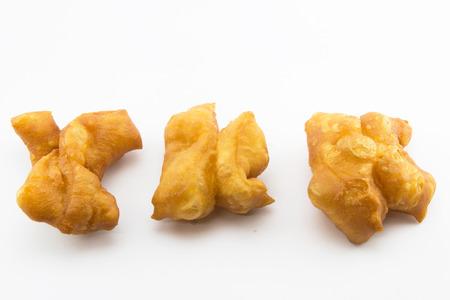 dough: masa frita Palo de masa frita stickdeep Foto de archivo