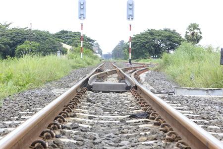 cruce de caminos: modo ferroviario encrucijada.