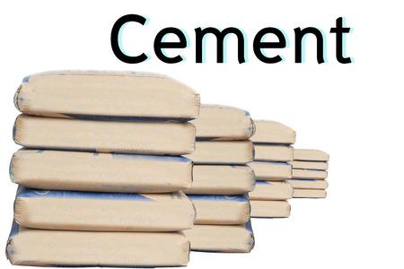 cemento: sacos de cemento.