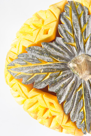 craving: Pumpkin craving thai style isolate on white background. Stock Photo