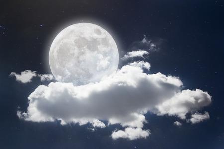 Wonderful night sky with full moon background.