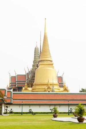 single story: Wat Phra Kaew, Temple of the Emerald Buddha, Bangkok, Thailand.