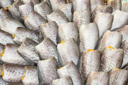 pectoralis: Snakeskin Gourami Fish,Pla Salit fish Trichogaster pectoralis dry overlay local cuisine thailand.