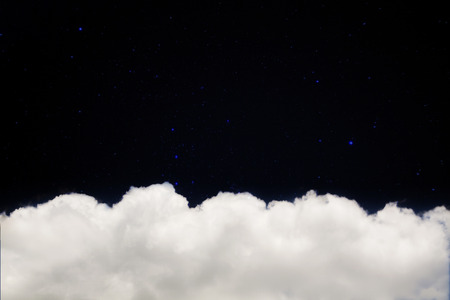 glister: Romantic night, Clouds with star. Stock Photo