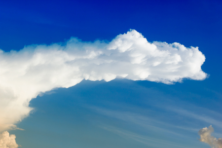 the firmament: Beautiful blue sky and clouds. Stock Photo