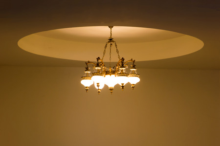 ambient light: Chandelier in ambient light.