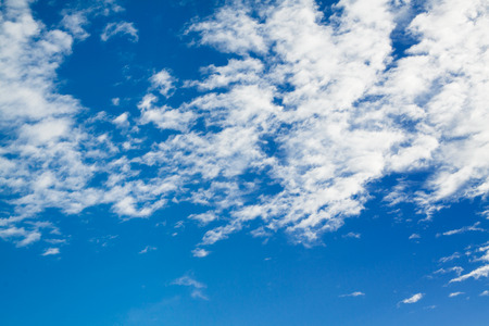 cheerfulness: Beautiful blue sky and clouds. Stock Photo
