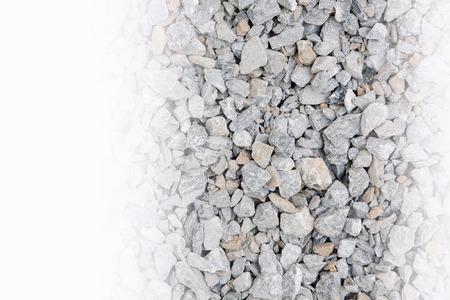 materiales de construccion: materiales de construcci�n de piedra triturada. Foto de archivo