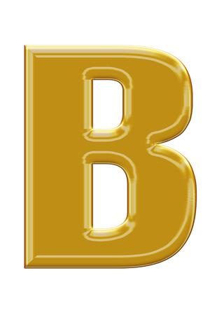 alphabetic: Golden alphabetic fonts.B.