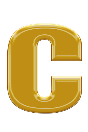 alphabetic: Golden alphabetic fonts.C.