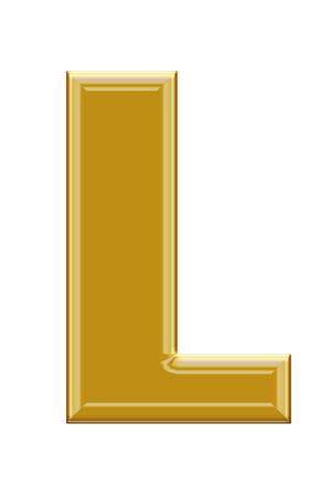 alphabetic: Golden alphabetic fonts.L.