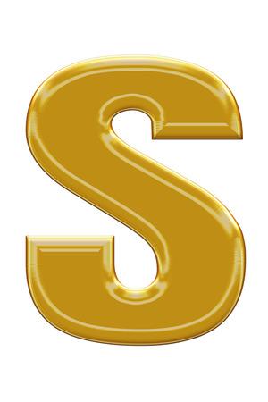 alphabetic: Golden alphabetic fonts.S.