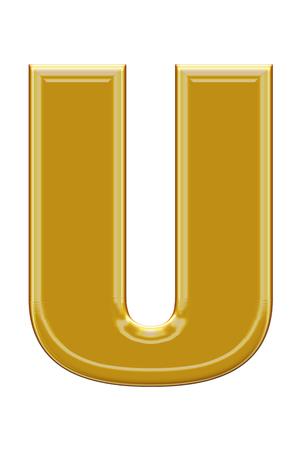 alphabetic: Golden alphabetic fonts.U.