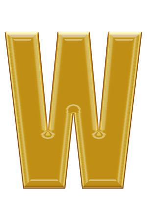 alphabetic: Golden alphabetic fonts.W.