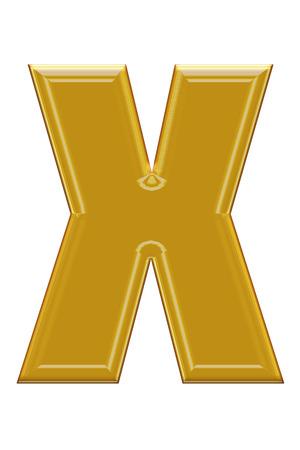 alphabetic: Golden alphabetic fonts.X.