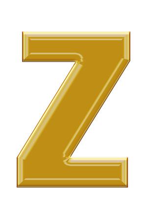 alphabetic: Golden alphabetic fonts.Z. Stock Photo