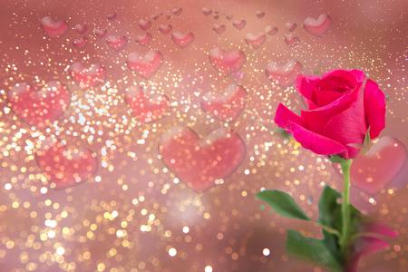 loveheart: Abstract love.heart shape bokeh background. Stock Photo