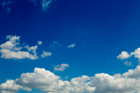 Beautiful blue sky with cloud.