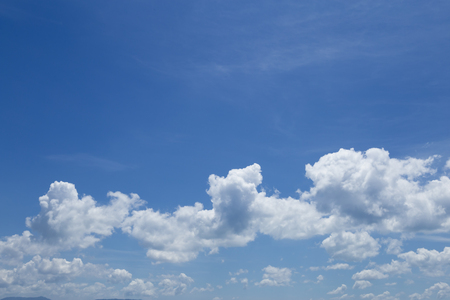 Beautiful blue sky and clouds. Stock Photo