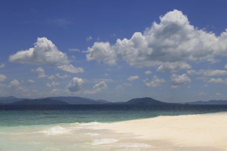 Andaman sea travel. Wonderful Island and Blue Paradise, Khai Island ,Thailand.Tour Business Concept. Stock Photo