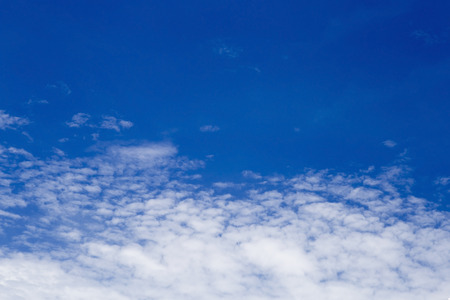 Beautiful blue sky with clouds.