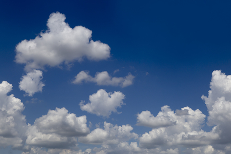 Beautiful blue sky and clouds .