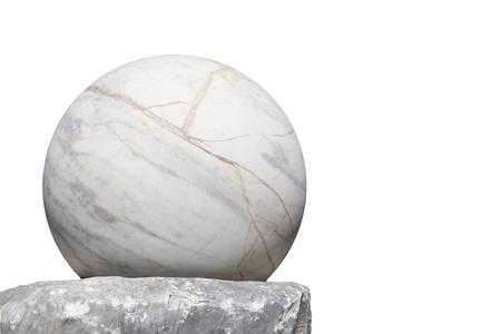 Stone ball isolated on white.