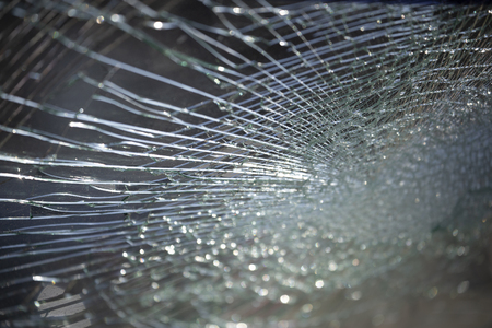 Cracked glass texture background. Stock Photo