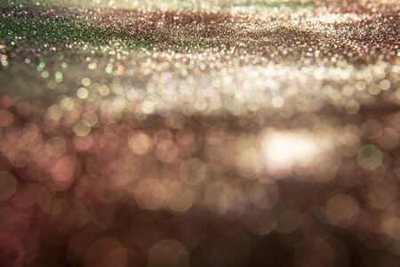 Glitter vintage lights background. Abstract blur background.